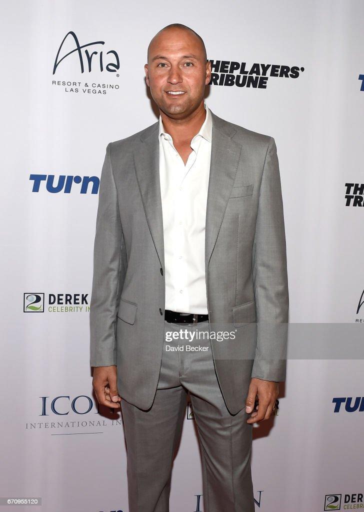 Former MLB player Derek Jeter attends the 2017 Derek Jeter Celebrity Invitational gala at the Aria Resort & Casino on April 20, 2017 in Las Vegas, Nevada.