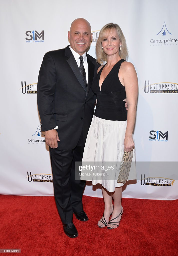 Former MLB player Jim Leyritz and guest attend the 7th Annual Unstoppable Foundation Gala at JW Marriott Los Angeles at L.A. LIVE on March 19, 2016 in Los Angeles, California.