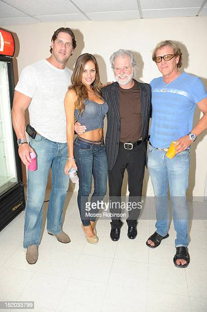 Former MLB Player John Rocker Julie McGee recording artist Chuck Leavell and Jack Morgan attend the Capricorn Experience at the Chastain Park...