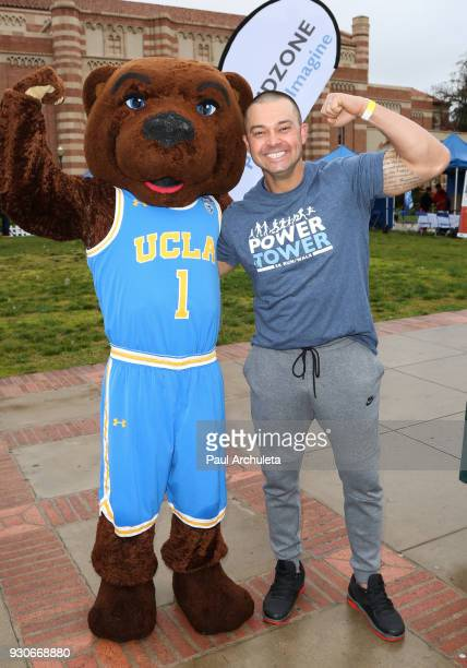 Former MLB Player Nick Swisher attends the Power Of Tower run/walk at UCLA on March 11 2018 in Los Angeles California