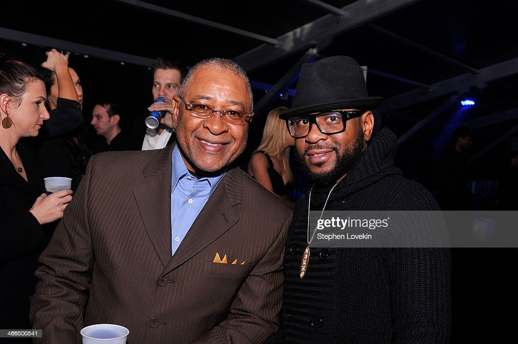 Former MLB player Ozzie Smith (L) and singer Nikko Smith attends the Bud Light Hotel on February 1, 2014 in New York City.