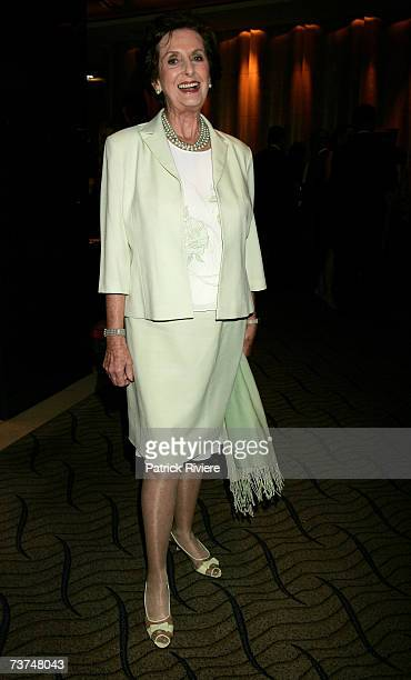 Former model and etiquette queen June Dally Watkins attends the Sydney Heritage Fleet Fundraising Dinner at the Westin Hotel Sydney on March 30 2007...