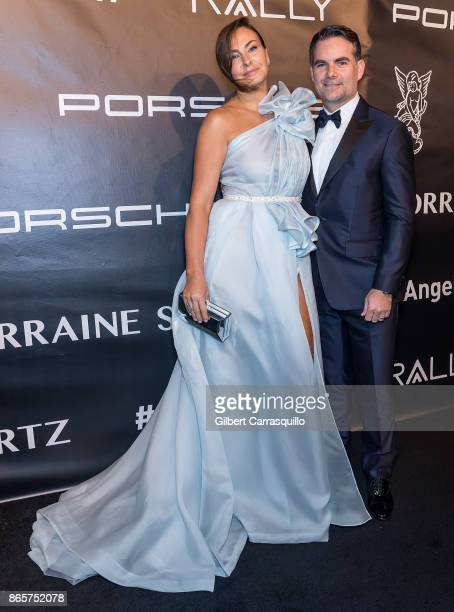 Former model Ingrid Vandebosch and NASCAR announcer Jeff Gordon arrive at Gabrielle's Angel Foundation's Angel Ball 2017 at Cipriani Wall Street on...