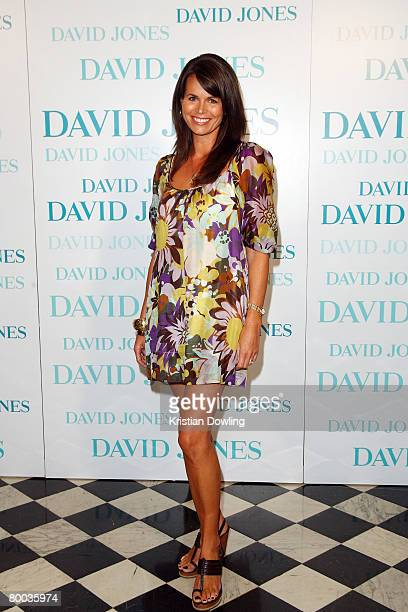 Former model Jo Silvagni arrives for the David Jones Winter 2008 Collection Launch 'A Japanese Story' at the Melbourne Town Hall on February 27 2008...