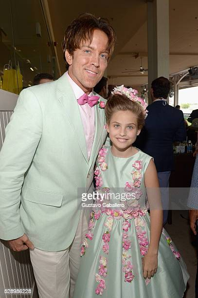 Former model Larry Birkhead and Dannielynn Birkhead are seen around the 142nd Kentucky Derby at Churchill Downs on May 7 2016 in Louisville Kentucky