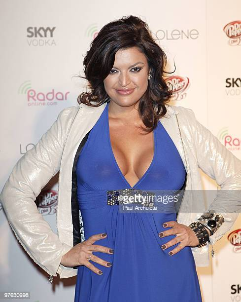 Former Model / TV Personality Jennifer Jimenez arrives at the Radar Onlinecom 1 Year Anniversary Celebration at XIV on March 10 2010 in West...