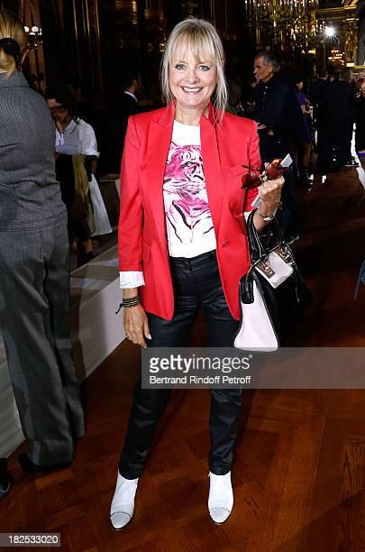 Former model Twiggy Lawson attend Stella McCartney show as part of the Paris Fashion Week Womenswear Spring/Summer 2014, held at Opera Garnier on...