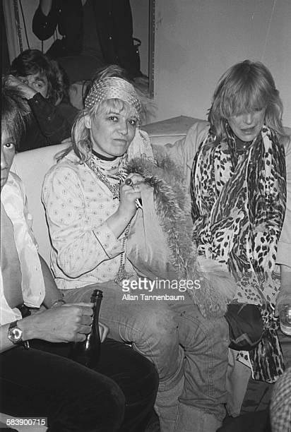 Former models actress Anita Pallenberg and musician Marianne Faithfull at the Mudd Club New York New York February 10 1980