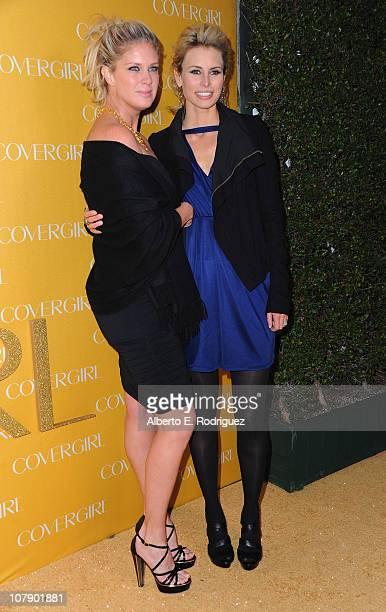 Former models Rachel Hunter and Niki Taylor arrive to Covergirl Cosmetic's 50th Anniversary Party on January 5 2011 in West Hollywood California