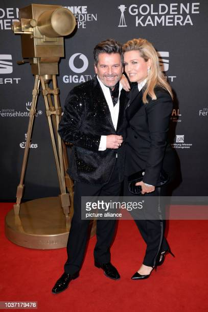 Former Modern Talking singer Thomas Anders and his wife Claudia Hess arrive at the 52nd Golden Camera film TV awards 2017 in Hamburg Germany 04 March...