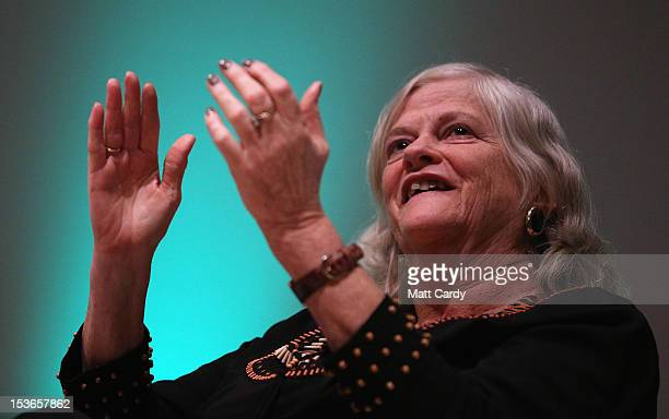 Former MP Anne Widdecombe listens to a speaker at a Coalition for Marriage fringe event as part of the Conservative Party Conference close to the...