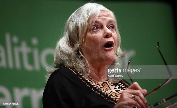 Former MP Anne Widdecombe speaks at a Coalition for Marriage fringe event as part of the Conservative Party Conference close to the International...