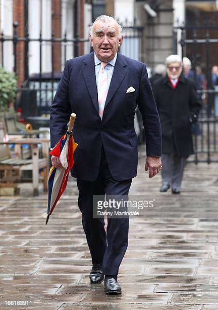 Former MP Michael Mates attends a memorial for Dinah Sheridan an actress who starred in 'The Railway Children' at St Paul's Church on April 9 2013 in...
