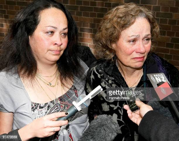 Former MP Taito Phillip Field's stepdaughter Jackie Ahtong and his wife Maxine JenningsField speak to the media after his sentencing at Auckland High...