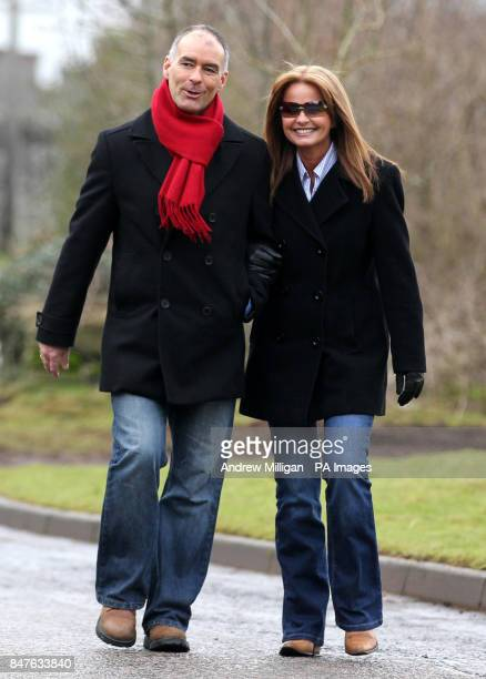 Former MSP Tommy Sheridan accompanied by his wife Gail leaves Castle Huntly Prisonnear Dundee after serving just over one year of his threeyear...