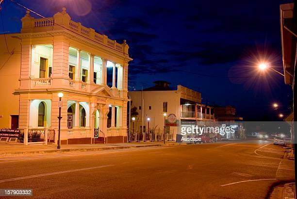 Former Municipal Library now a bank in the well preserved heart of the city the One Square Mile Charters Towers Queensland Australia