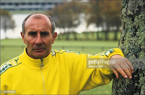 Former Nantes player and coach JeanClaude 'Coco' Suaudeau in Nantes France on December 10 1993