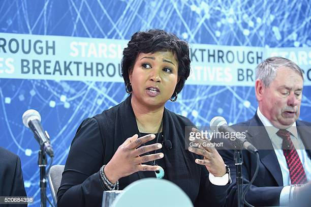 Former NASA astronaut and Director of 100 Year Starship Mae Jemison attends the New Space Exploration Initiative Breakthrough Starshot Announcement...