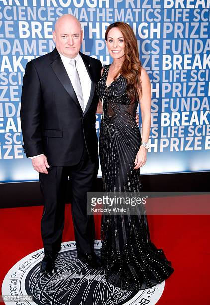 Former NASA Astronaut Scott Kelly and NASA Public Affairs Officer Amiko Kauderer attend the 2017 Breakthrough Prize at NASA Ames Research Center on...