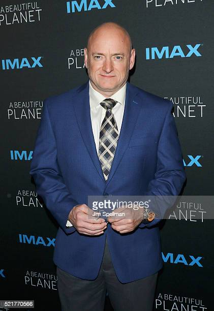 Former NASA astronaut Scott Kelly attends 'A Beautiful Planet' New York premiere at AMC Loews Lincoln Square on April 16 2016 in New York City