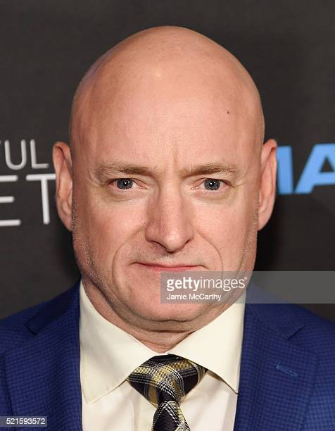 Former NASA astronaut Scott Kelly attends the New York premiere of 'A Beautiful Planet' at AMC Loews Lincoln Square on April 16 2016 in New York City