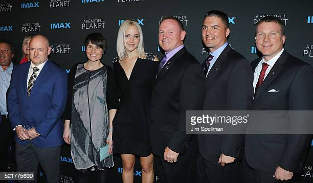 Former NASA astronaut Scott Kelly European Space Agency astronaut Samantha Cristoforetti actress Jennifer Lawrence Commander and NASA astronaut Barry...