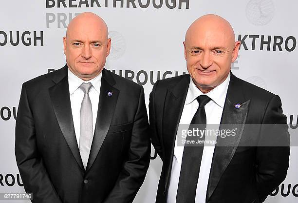 Former NASA Astronauts Scott Kelly and Mark Kelly attend the Red Carpet at the 5th Annual Breakthrough Prize Ceremony at NASA Ames Research Center on...