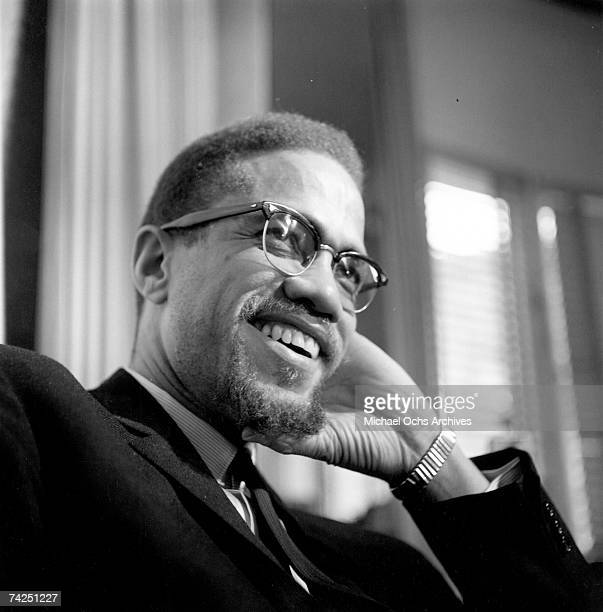 Former Nation Of Islam leader and civil rights activist El-Hajj Malik El-Shabazz poses for a portrait on February 16 in Rochester, New York.