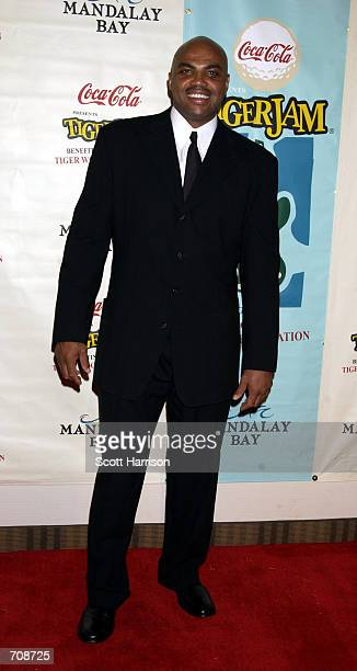 Former National Basketball Association player Charles Barkley arrives at the fifth annual Tiger Woods Foundation Tiger Jam fundraiser at the Mandalay...
