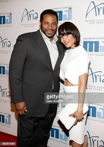Former National Football League player Jerome Bettis and wife Trameka Boykin arrive at the 13th annual Michael Jordan Celebrity Invitational gala at...