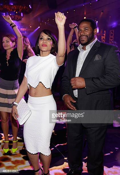 Former National Football League player Jerome Bettis and wife Trameka Boykin attend the 13th annual Michael Jordan Celebrity Invitational gala at the...