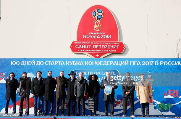 Former national Russia team players Alexey Smertin, Yevgeny Aldonin, Dmitri Sennikov, Roman Shirokov, Vyacheslav Malafeev, actor Mikhail Boyarski,...