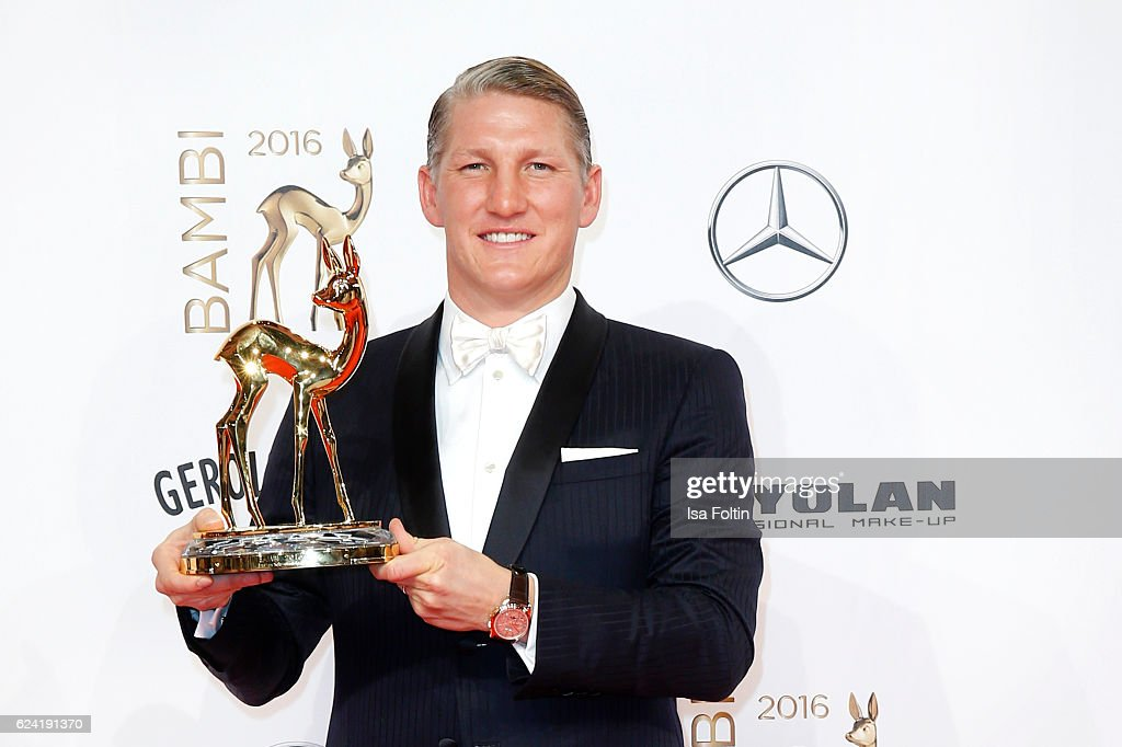 Former national soccer player and award winner Bastian Schweinsteiger during the Bambi Awards 2016 at Stage Theater on November 17, 2016 in Berlin, Germany.