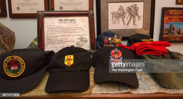 Former Naval Chaplain Ray Stubbe of Wauwatosa Wi keeps a room of his home filled with memorabilia from the Siege of Khe Sanh in Viet Nam 50 years ago...