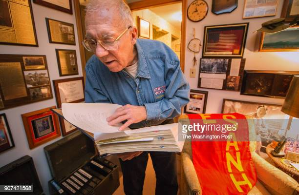 Former Naval Chaplain Ray Stubbe of Wauwatosa Wi reads from a transcript of diary from his days during the Siege of Khe Sanh in Viet Nam 50 years ago...