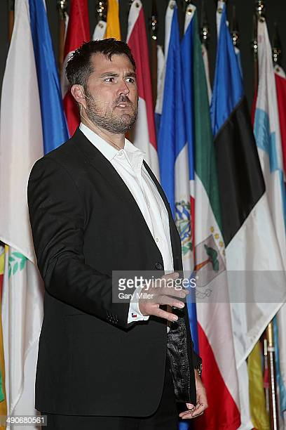 Former Navy Seal and author of the book Lone Survivor Marcus Luttrell speaks about Operation Red Wings at Wortham Center Brown Theater on May 14 2014...