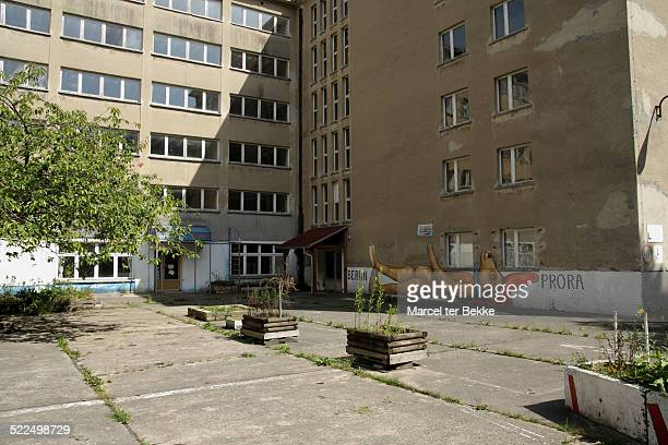 Former nazi colossal tourist complex of Prora on Rügen in Germany Never used as such and now derelict and falling apart