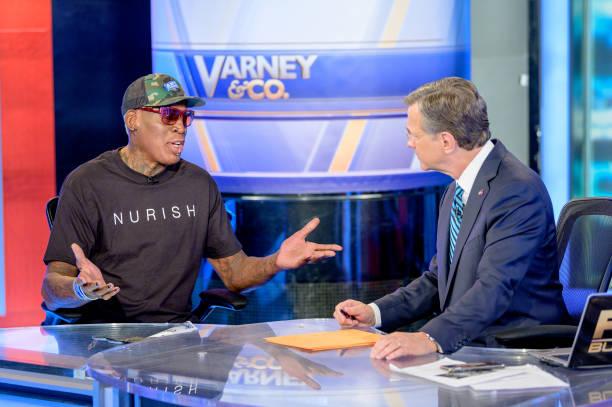"""NY: Dennis Rodman Visits """"Varney & Co."""""""