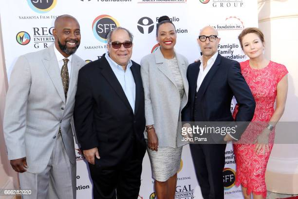 Former NBA basketball player Kenny Anderson Sarasota film festival president and chairman Mark Famiglio director/actress Aisha Tyler actor Stanley...