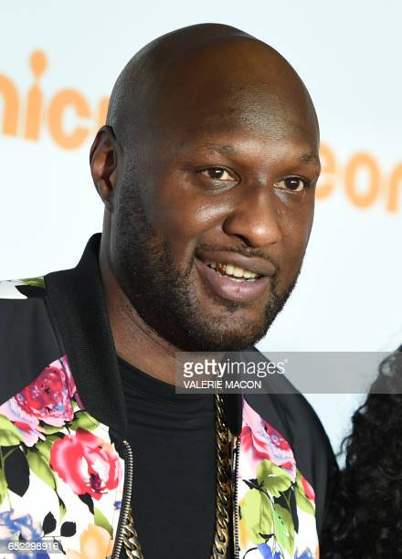 Former NBA basketball player Lamar Odom arrives for the 30th Annual Nickelodeon Kids' Choice Awards March 11 at the Galen Center on the University of...