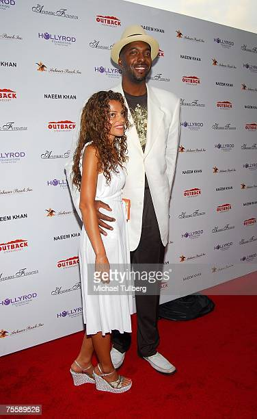 Former NBA basketball star John Salley and his wife Natasha attend the Designcare 2007 celebrity benefit thrown by actress Holly Robinson Peete and...