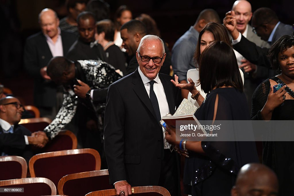 Former NBA coach, Larry Brown arrives at the 2016 Basketball Hall of Fame Enshrinement Ceremony on September 9, 2016 at Symphony Hall in Springfield, Massachusetts.
