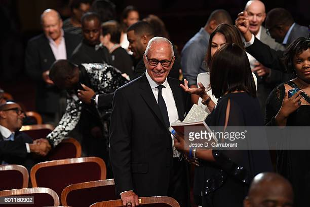 Former NBA coach Larry Brown arrives at the 2016 Basketball Hall of Fame Enshrinement Ceremony on September 9 2016 at Symphony Hall in Springfield...