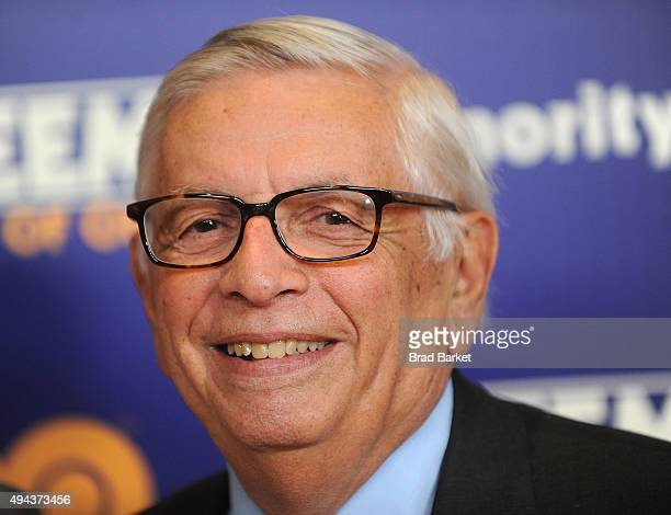 Former NBA Commissioner David Stern attends the Kareem Minority Of One New York Premiere at Time Warner Center on October 26 2015 in New York City