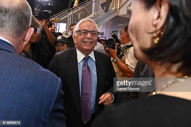 Former NBA Commissioner, David Stern poses for a photo before the San Antonio Spurs game against the Sacramento Kings on October 27, 2016 at the...