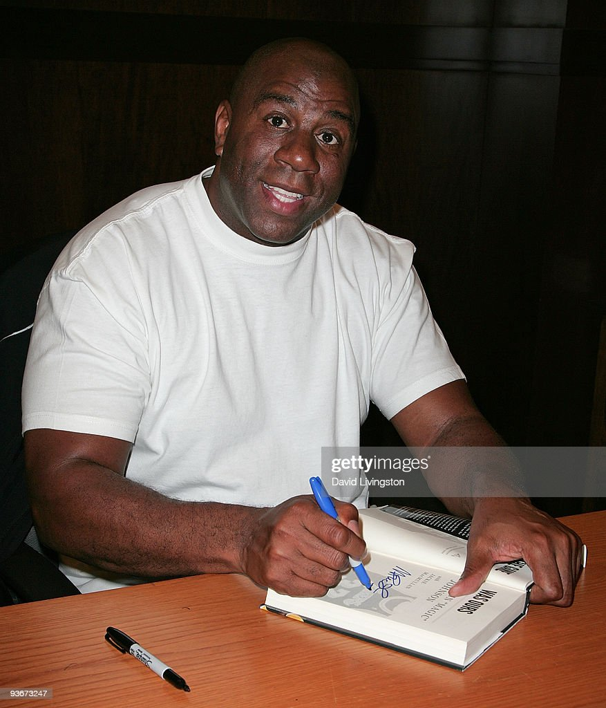 "Earvin ""Magic"" Johnson Book Signing For ""When The Game Was Ours"" : News Photo"