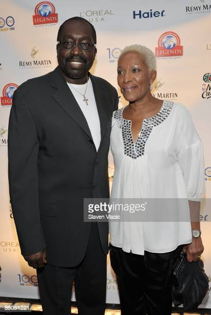 Former NBA Knicks player Earl Pearl Monroe and wife Marita attend the Legends Legacy A Salute To 100 Years of Change at Gotham Hall on July 15 2009...