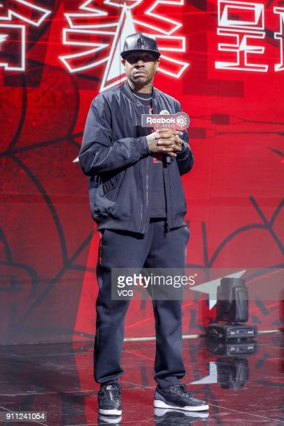 Former NBA player Allen Iverson attends a Reebok activity on January 27 2018 in Beijing China