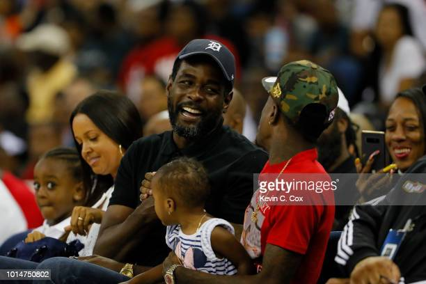 Former NBA player and current TNT analyst Chris Webber looks on during week eight of the BIG3 three on three basketball league at Infinite Energy...