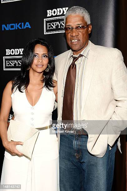 Former NBA Player and Hall of Famer Julius ÒDr JÓ Erving and wife Dorys Irving arrive at ESPN The Magazine 4th Annual Body Issue Party at Belasco...